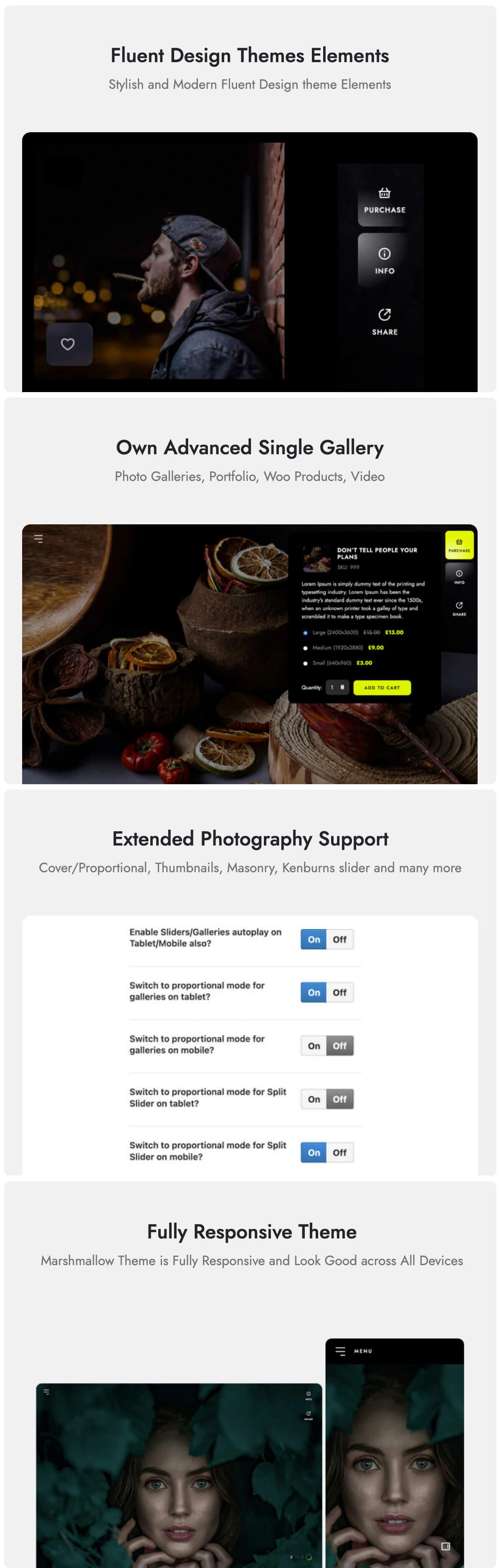 Marshmallow - Photographer WordPress Theme - 3